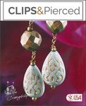 Pyrate, Lucite Teardrop Earrings | Your choice: Pierced or Clips