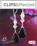 Onyx w/ Swarovski Crystal Earrings | Your choice: Pierced or Clip on