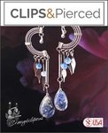 Light Long Ethnic Earrings | Your choice: Pierced or Clip on