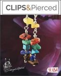 Eclectic-Multicolored Earrings | Your choice: Pierced or Clip on