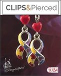 Autism Awareness Earrings | Your choice: Pierced or Clip on