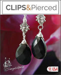 Pierced & Clip Earrings: Silver & Onyx