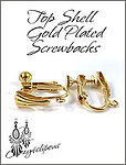 Gold Plate Top Shell Screwbacks Clips