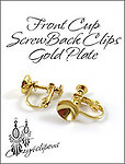 Front Cup Silver Screwback Gold Clip Findings