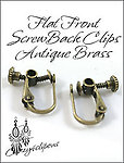 Clip Earrings Findings: Hinged Screw Parts w/ Front tops