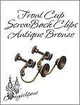 Front Cup Screwback Brass Clip Findings