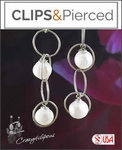 Whimsical Pearl Mini Hoop Earrings | Your choice: Pierced or Clip on