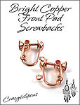 Clip Earrings Findings: Copper Screw Back Parts