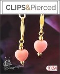 Awareness: Little Heart Earrings | Your choice: Pierced or Clips
