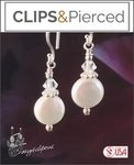 Petite Pearl Coins Earrings | Your choice: Pierced or Clips