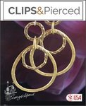 14K Gold Filled Hoop Earrings | Your choice: Pierced or Clips