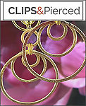 Brushed Gold Triple Hoop Earrings | Pierced and Clips