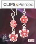 Dangling Flower Earrings for Teens | Your choice:  Pierced or Clips