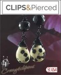 Halloween: Cruella De Ville Inspired Earrings | Your choice: Pierced or Clips