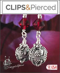 Red/Green Christmas Earrings | Your choice: Pierced or Clips