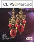 Gung Hay Fat Choy! Red & Gold Dangling Earrings |Pierced or Clips