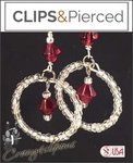 Christmas: Pierced & Clip Earrings: Small Hoops